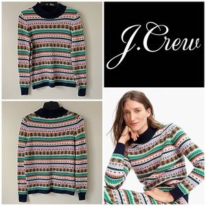 NWT 🎁 J. Crew Mock Neck Fair Isle Sweater